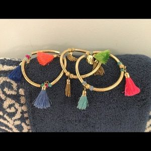 Lilly Pulitzer tassel pool bracelets